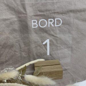 Bordnummer 1 akryl
