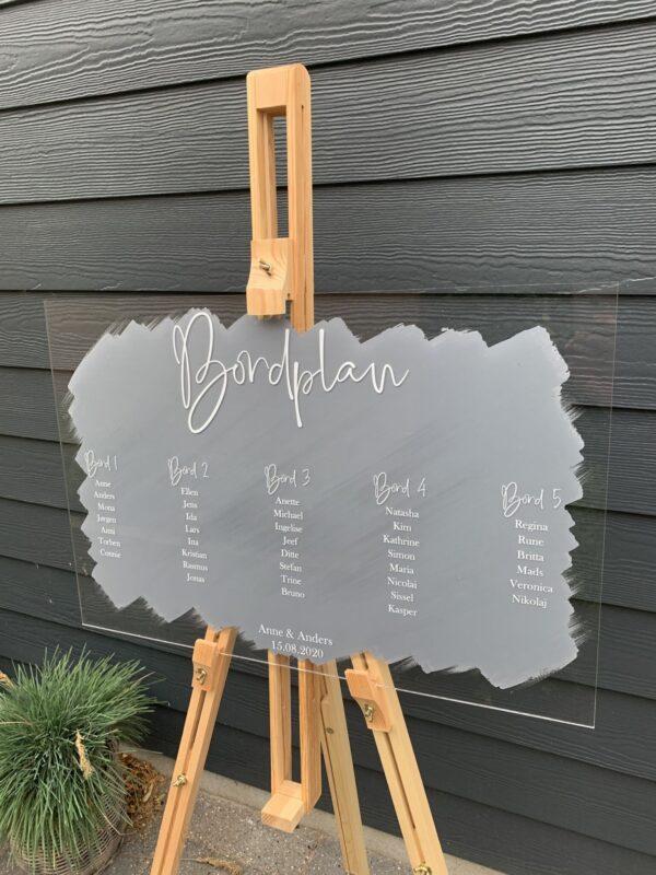 bordplan grå akryl
