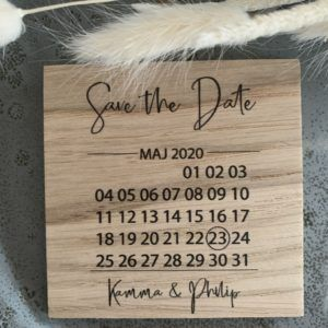 Save the date kalender