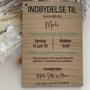 Invitation pæon m/eucalyptus